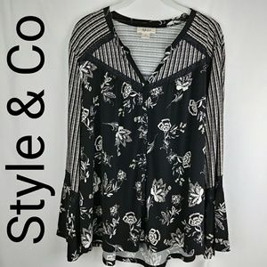 Style & Co   Floating Garden Top Size XL